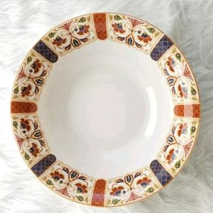 "QUEEN'S IMARI 9 3/8"" Round Vegetable/Soup Bowl"